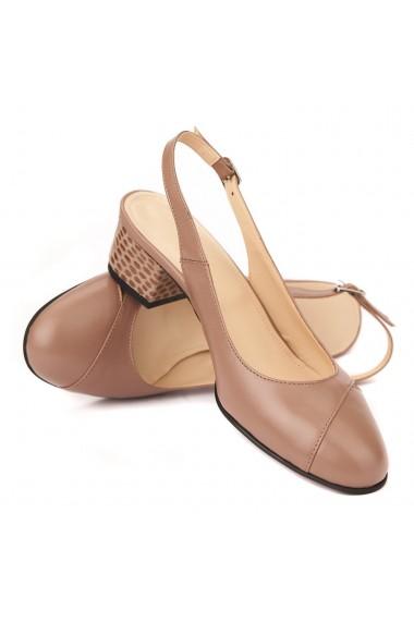 Sandale elegante din piele naturala cu toc mic 5278