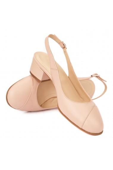 Sandale elegante din piele naturala cu toc mic 5281