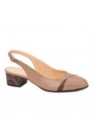 Sandale elegante din piele naturala cu toc mic 5282