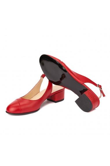 Sandale elegante din piele naturala cu toc mic 5283