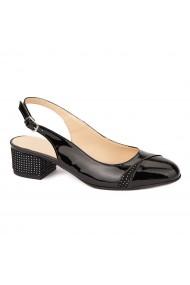 Sandale elegante din piele naturala cu toc mic 5284
