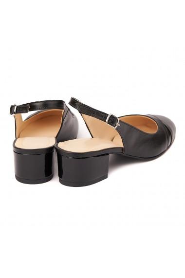 Sandale elegante din piele naturala cu toc mic 5285