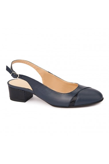 Sandale elegante din piele naturala cu toc mic 5286