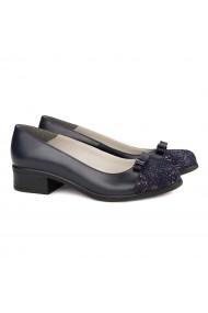 Pantofi dama din piele naturala bleumarin 4152
