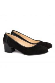 Pantofi dama din piele naturala neagra 4128