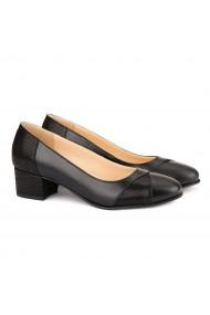 Pantofi dama din piele naturala neagra 4131