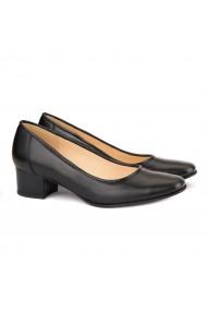 Pantofi dama din piele naturala neagra 4148