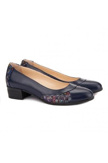 Pantofi dama piele naturala bleumarin 1503