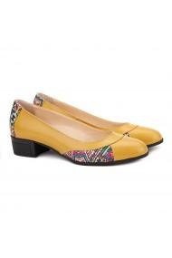 Pantofi dama piele naturala galbena 1504