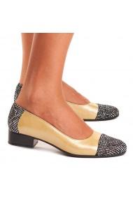 Pantofi dama piele naturala galbena 1533