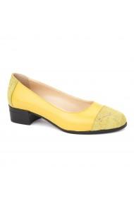 Pantofi dama piele naturala galbena 1611