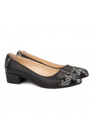Pantofi dama piele naturala neagra 1505