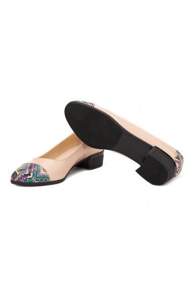 Pantofi dama piele naturala nude 1507