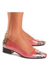 Pantofi dama piele naturala roz 1531