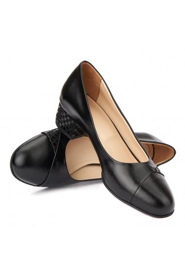 Pantofi dama toc mic din piele naturala 4372