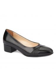 Pantofi dama toc mic din piele naturala 4373