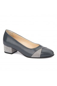 Pantofi dama toc mic din piele naturala 4376