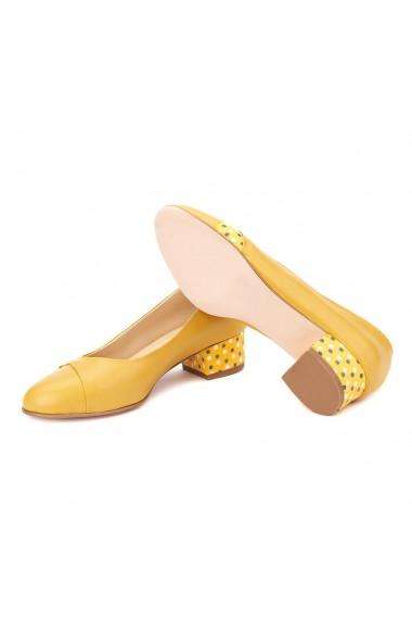 Pantofi dama toc mic din piele naturala 4377