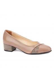 Pantofi dama toc mic din piele naturala 4379