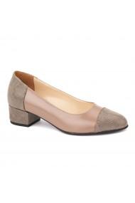 Pantofi dama toc mic din piele naturala 4380