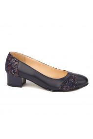 Pantofi dama cu toc mic din piele naturala 4417