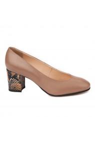 Pantofi cu toc dama din piele naturala 4508