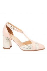 Sandale elegante din piele naturala cu toc gros 5288