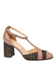 Sandale elegante din piele naturala cu toc gros 5292