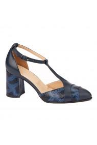 Sandale elegante din piele naturala cu toc gros 5294