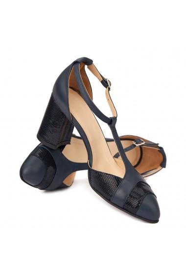Sandale elegante din piele naturala cu toc gros 5295