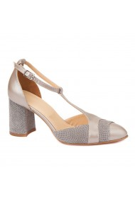 Sandale elegante din piele naturala cu toc gros 5297