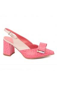 Sandale elegante din piele naturala cu toc gros 5303