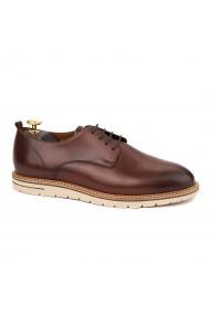 Pantofi casual din piele naturala maro 1116