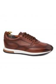 Pantofi casual sport din piele naturala maro 1119