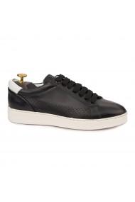 Pantofi casual sport din piele naturala neagra 1121