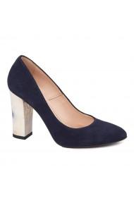 Pantofi dama din piele naturala bleomarin toc imbracat 4557