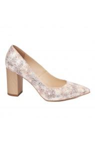Pantofi dama din piele naturala cu model 4592