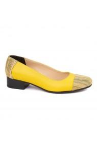 Pantofi dama piele naturala cu toc mic 1634