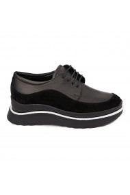 Pantofi Piele Naturala neagra 1637