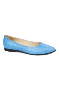 Balerini dama din piele naturala albastra 4519