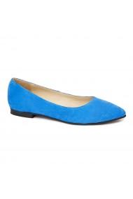 Pantofi dama din piele naturala albastra 4520