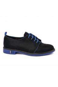 Pantofi Piele Naturala neagra 1655