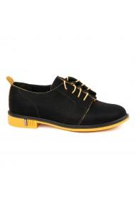 Pantofi Piele Naturala neagra 1656