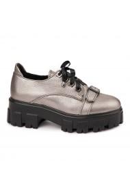 Pantofi Piele Naturala cu talpa groasa 1668