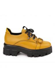 Pantofi Piele Naturala cu talpa groasa 1670