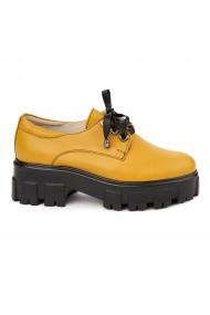 Pantofi Piele Naturala cu talpa groasa 1673