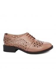 Pantofi Piele Naturala Bej pentru Dama 1696