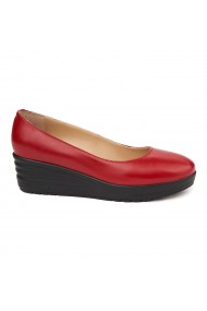 Pantofi dama fara siret din Piele Naturala Rosie 1699