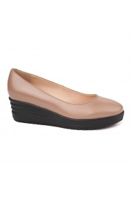 Pantofi dama fara siret din Piele Naturala Bej 1700