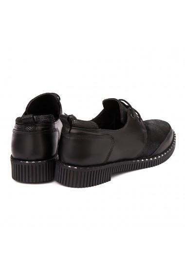Pantofi dama casual din piele naturala Neagra 1803